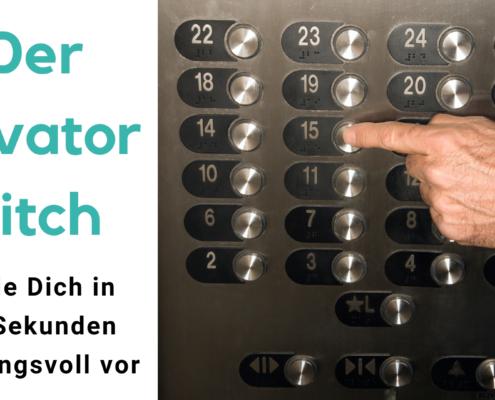 Elevator Pitch für Speaker